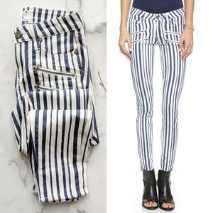 PAIGE NWOT Edgemont skinny stripe zipper Jean